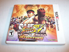 Super Street Fighter IV 3D Edition (Nintendo 3DS) XL 2DS Game w/Case & Manual