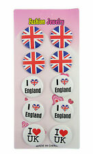 pack of 10 union jack distintivi Londra UK acquisto in stock lotto da lavoro