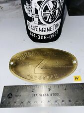 6 Hp Brass Tag For Fairbanks Morse Z Hit Miss Engine Tractor Auto Antique Fm Z