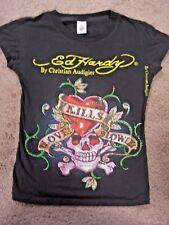 Ed Hardy love kills slowly skull & heart all beaded older rare design