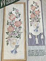 "Elsa Williams ""Dynasty Panel"" Stitchery Frame Size: 10"" x 29""  ❤️   Started"