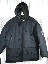 Size XL SPIEWAK Black Puffer Coat Jacket Down Feathers Warm Winter PERFECT Men's