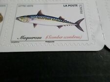 POISSONS DE MER, SEA FISH, 2019 timbre FRANCE, MAQUEREAU, neuf**, MNH STAMP