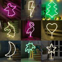 LED Neon Light Sign Wall Light Stand Bar Lamp Home Nursery Room Shop Decor PVC