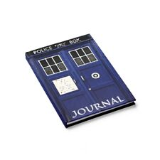 TARDIS, Hardcover Journal, Ruled Line, Inspired From Doctor Who