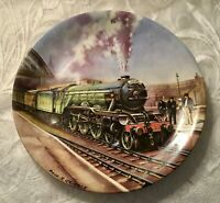 Davenport Ltd Ed. Trains Collectors Plate Paul Gribble 'The Flying Scotsman'