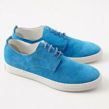 NIB $1250 KITON Turquoise Blue Suede Low-Top Sneakers US 9 (It 8) Shoes