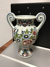 Colorful Vase 8 1/2in Top Condition