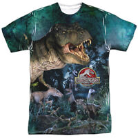 Jurassic Park Movie Dinosaurs T-Rex Raptor 1-Sided Print Poly Tee Shirt S-3XL