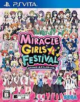 USED PS VITA MIRACLE GIRLS FESTIVAL SEGA GAMES 21333 Japan import