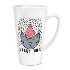 Party Time Cat 17 OZ (approx. 481.93 g) grandes café con leche Taza Taza-Divertido Big Grande