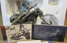 Franklin Mint Angel/Temptress Temptation Ride Beast/Motorcycle Pewter Sculpture