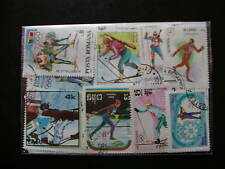 TIMBRES SPORTS / SKI DE FOND : 25 TIMBRES TOUS DIFFERENTS / SKIING SPORTS STAMPS