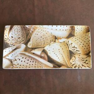 Pier 1 Porcelain Sea Shells Serving Platter Tray