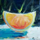 Oil original painting on canvas size 12x12 inches Citrus Listed by Artist