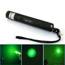 10 miles Military Green 5mw 532nm Laser Pointer Pen Light Visible Beam Burning!