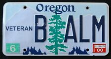 """OREGON """" VETERAN """" OR Military Specialty Graphic License Plate"""