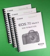 Laser Printed Canon Eos 7D Mkii Camera 550 Page Owners Manual Guide
