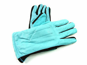 New Womens Premium High Quality Genuine Soft Leather Gloves Fleece Lined Driving