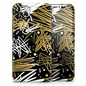 Gold and Black Squiggly