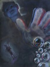 Large, Surreal, Fantasy, Ethereal, Aesthetic, Portrait Pastel Painting / Drawing