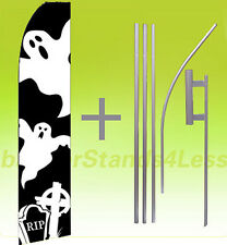 Feather Swooper Flutter Banner Sign Flag 15' Kit - GHOSTS Halloween F