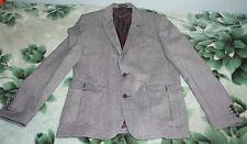 Homme Zara Tweed Style Blazer en Gris, Taille 56 EUR
