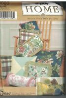 9683 Simplicity SEWING Pattern Design Your Own Pillows Bolster Square UNCUT OOP