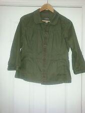 Nordstrom's CASLON Military  Green Jacket Blazer Sz L 3/4 Sleeves