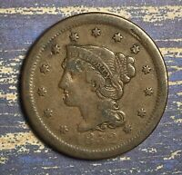 1852 Braided Hair Large Cent. Collector Coin for your Collection or Set.