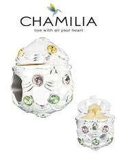 Genuine chamilia & Plata Esterlina 925 Swarovski Huevo de Pascua encanto Grano de Oro