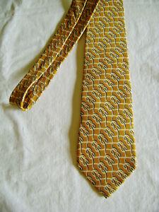 Vintage Gucci Silk Tie Made in Italy 100% Silk Gold Guccio Gucci