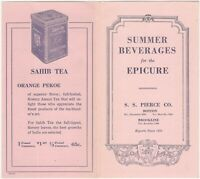 S.S. Pierce Vintage Summer Beverages Fruit Juices Drinks Advertising Folder