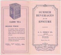 S.S. Pierce Vintage Summer Beverages Fruit Juices Drinks Advertising Folder