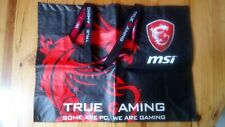 MSI gaming plastic shopping bag / sac
