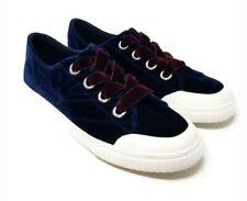 Tretorn Women's Marley  Lace-Up Velvet Rubber Sneakers Dark Blue Size 7.5