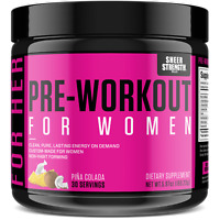 Sheer Pre Workout for Women | Nitric Oxide Booster Powder Supplement