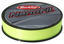 Berkley Nanofil 300yd Hi-Vis 4LB Line 4 lb 300 yds Braid Chartreuse CNF3004-HV