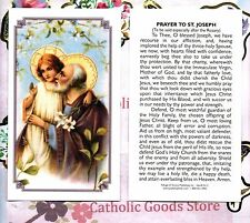St. Joseph - Prayer to Saint Joseph  - Paperstock Holy Card