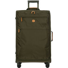 BRIC'S X-TRAVEL green olive nylon leather softside spinner suitcase trolley L 30