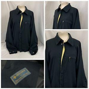 Descente Golf Rain Jacket XL Black Poly Full Zip No Flaws YGI S1-626