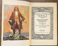 1941 GULLIVER'S TRAVELS BY J.SWIFT  ILLUSTRATED BY LOUIS RHEAD HARDCOVER EDITION