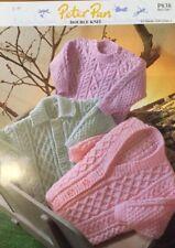 "DK Knitting Pattern babies girls  boys  Jumper  Sweater Cardigan Size 16/22"""