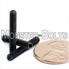 M3 x 20mm - Qty 10 - DIN 916 CUP Point Socket Head Set / Grub Screw Black Alloy