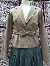 Gorgeous Nina Ricci Vintage Tweed Wool Silk Lined Fitted Waist Jacket. 8/10/36