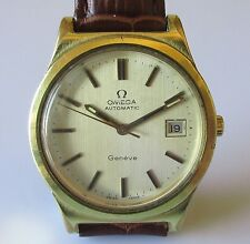 Vintage Omega Geneve Gents Gold Plated Automatic (Date Function) Wrist Watch
