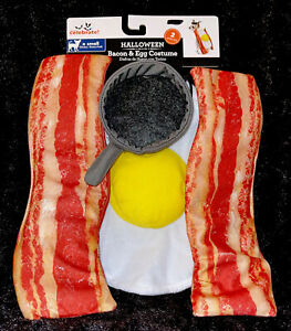 Dog's Halloween Costume - Bacon and Eggs with frying pan hat Size XS NEW