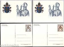 W035 VATICANO - 1981 Interi Postali Giovanni Paolo II C20/21  nuovi