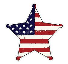 Badge Shape (J54) USA Flag Distressed Vinyl Decal Sticker Car Laptop/Netbook Win