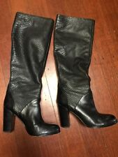 💖👠👠👠Mimco Leather Boots Heels Wedges  Shoes 39 Or 8